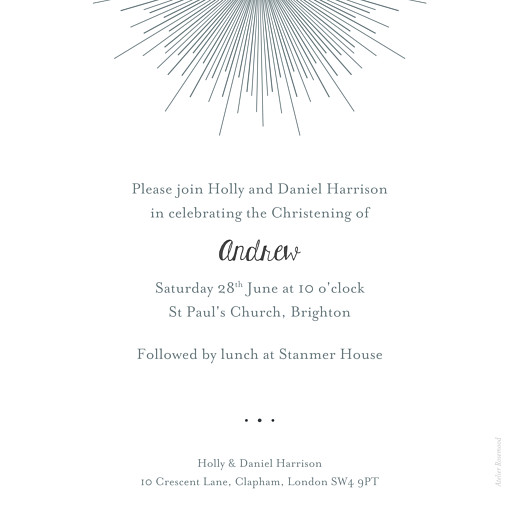 Christening Invitations Lumière white - Page 2