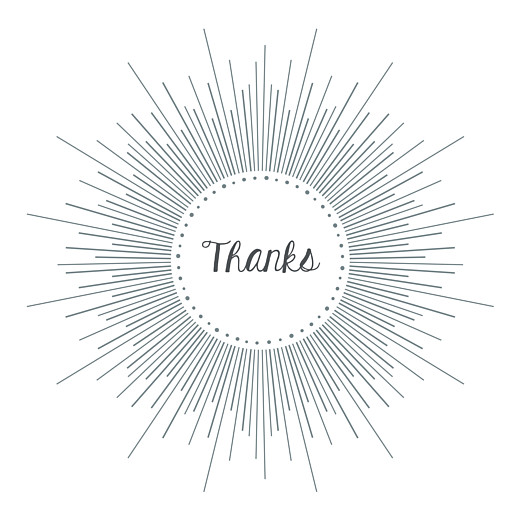 Baby Thank You Cards Lumière white