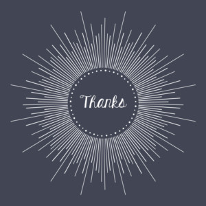 Baby Thank You Cards Lumière midnight blue