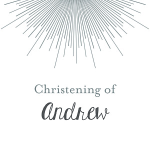 Christening Gift Tags Lumière white