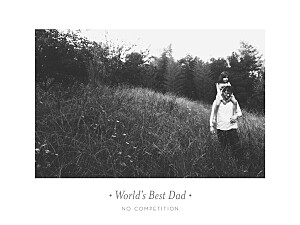 The best dad landscape white photo small posters