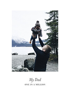 The best dad portrait white small posters