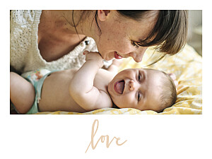 It's love landscape pink photo small posters