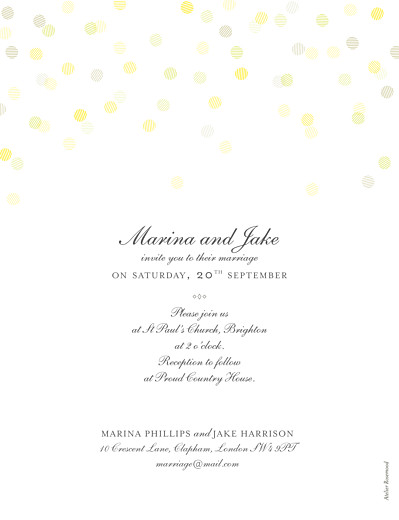 Wedding Invitations Celebration (foil) white