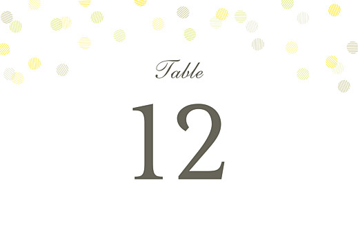 Table Numbers Celebration (foil) white