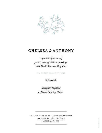 Wedding Invitations Reflections (foil) green