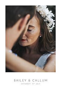 Wedding Invitations Elegant photo portrait white