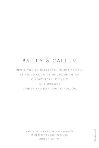 Wedding Invitations Elegant photo portrait white - Page 2