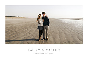 Elegant photo landscape white wedding invitations