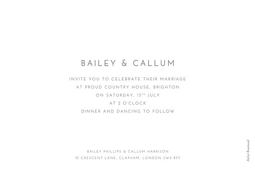 Wedding Invitations Elegant photo landscape white