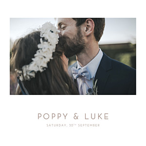 Elegant photo white photo wedding invitations