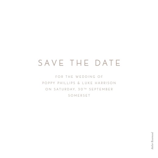 Save The Date Cards Elegant photo white - Page 2