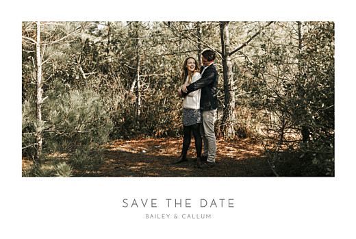 Save The Date Cards Elegant photo landscape white