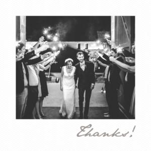 Wedding Thank You Cards Little polaroid white