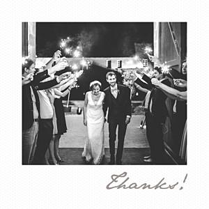 Little polaroid white wedding thank you cards