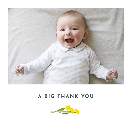 Baby Thank You Cards Summer baby blue