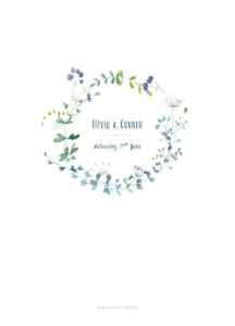 Order of Service Booklets Watercolour meadow pink