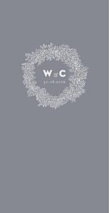 Baby's breath (4 pages) grey wedding menus