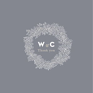 Baby's breath (4 pages) grey wedding thank you cards