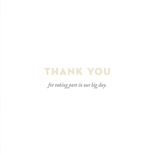 Wedding Thank You Cards Baby's breath (4 pages) grey