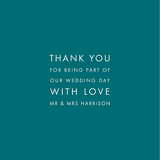 Wedding Thank You Cards Modern (4 pages) peacock blue - Page 3