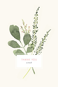 Spring blossom beige rustic wedding thank you cards