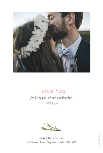 Wedding Thank You Cards Spring blossom beige - Page 2