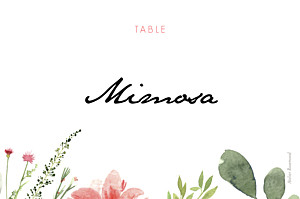 Spring blossom beige table numbers