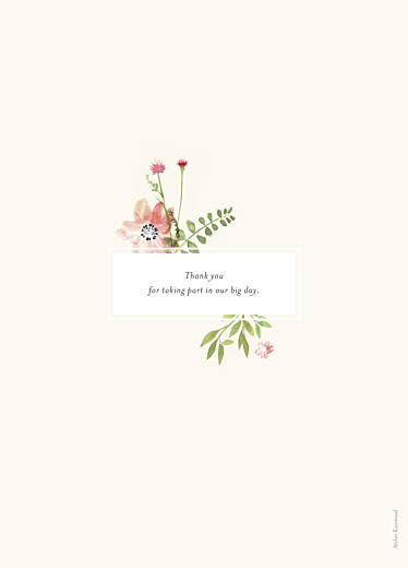 Wedding Order of Service Booklets Spring blossom beige - Page 4