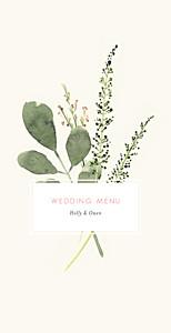 Spring blossom beige wedding menus
