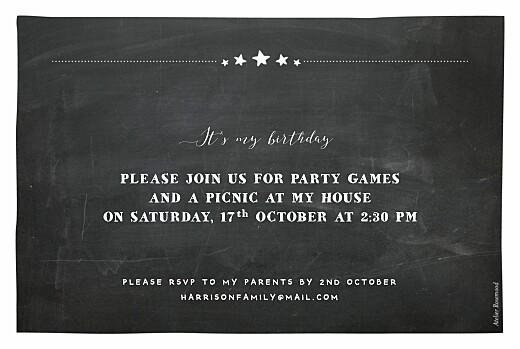 儿童派对邀请板岩黑 - 第2页