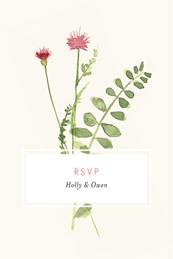 RSVP Cards Spring blossom cream