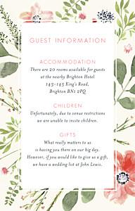 Spring blossom cream guest information cards