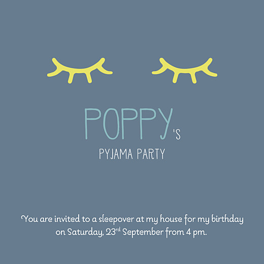 pyjama party kids party invitations atelier rosemood