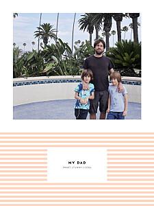 Pastel stripes orange small posters