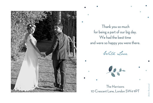 Wedding Thank You Cards Summer night blue - Page 2