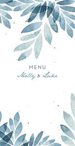 Summer night (foil) blue wedding menus