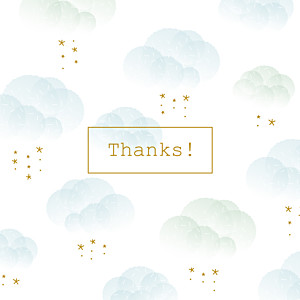 Mist blue mr & mrs clynk  baby thank you cards