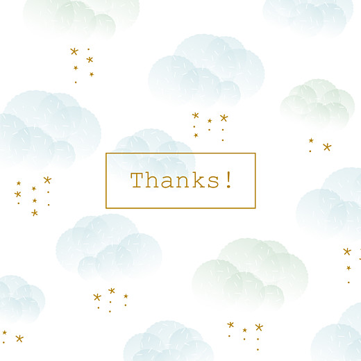 Baby Thank You Cards Mist blue
