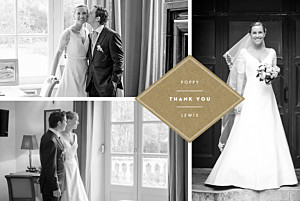Our big day (4 pages) kraft brown wedding thank you cards