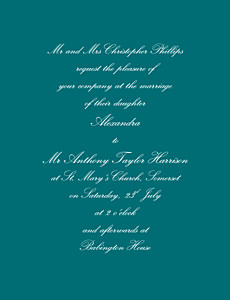 Wedding Invitations Tradition green