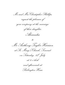 Wedding Invitations Tradition white