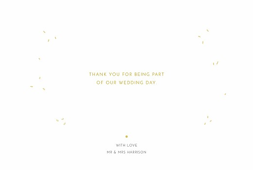 Wedding Thank You Cards Botanical border 4 pages yellow - Page 3