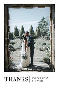 Élégant photo (4 pages) white le collectif  wedding thank you cards