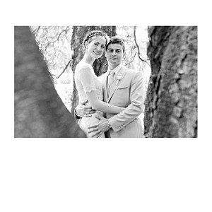 Gold foil simple photo 4 pages (foil) white wedding thank you cards