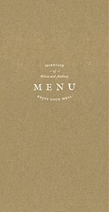 Provence (4 pages) kraft wedding menus