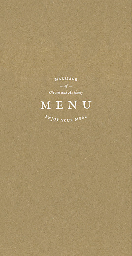 Wedding Menus Provence (4 pages) kraft