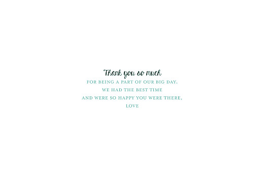 Wedding Thank You Cards Watercolour meadow (4 pages) blue - Page 3