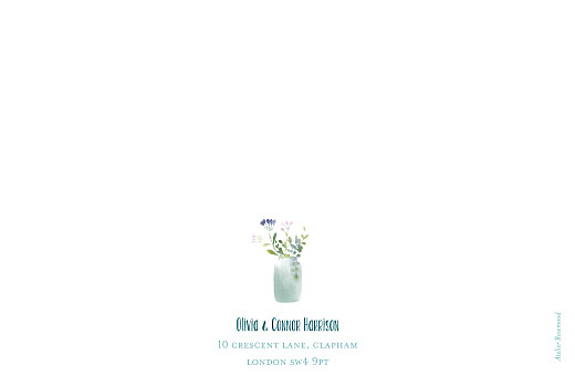 Wedding Thank You Cards Watercolour meadow (4 pages) blue - Page 4