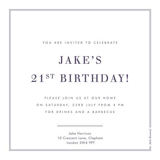 Birthday Invitations Kraft essential violet-blue - Page 2